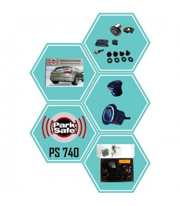 Parksafe Sensor Parque 4 sensores buzer - PS740