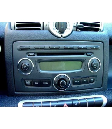 02SM01  -FRENTE ADAP. RADIO DUPLO DIN SMART 2007> - 02SM01