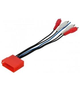 04AU05  - Adap. sistema activo Audi Mini ISO/ RCA 4 canais - 04AU05