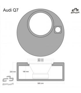 BOXAUDIQ7  - Caixa sub específica Audi Q7 - BOXAUDIQ7