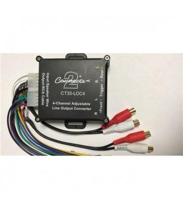 CT35-LOC4  - Conversor de Sina RCA HI/LOW Com Remote - CT35-LOC4