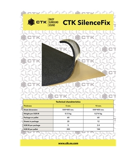 CTK SILENCEFIX  10mm 12 Unidades - CTKSILENCEFIX10