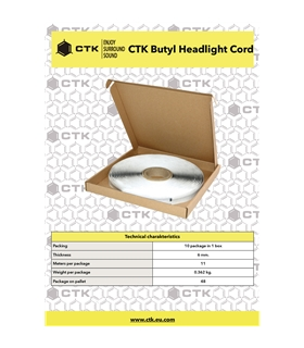 CTK Butyl Headlight Cord 6mm - CTKBUTYL