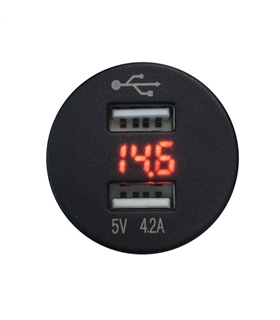 Tomada USB 12/24V - 600156