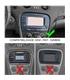 02MB08 - Frente 2 Din Mercedes SL R230 - 02MB08