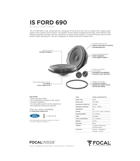 FOCAL KIT IS FORD 690 #2 - 1818ISFORD690
