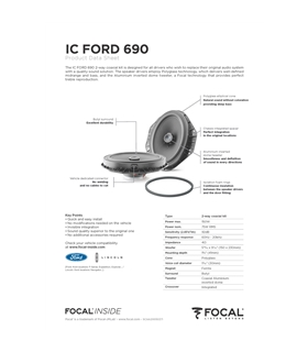 FOCAL KIT IC FORD 690 #2 - 1818ICFORD690