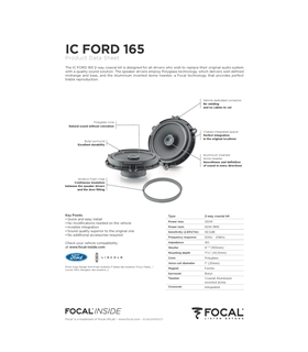 FOCAL KIT IC FORD 165 #2 - 1818ICFORD165