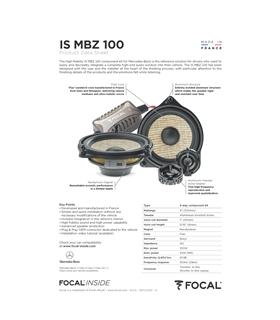 IS MBZ 100 Focal Kit Vias  Mercedes #7 - 1818ISMBZ100