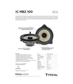 IC MBZ 100 Focal Kit Coaxial Mercedes #3 - 1818ICMBZ100
