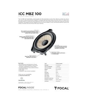 ICC MBZ 100 Focal Kit Coaxial Mercedes #3 - 1818ICCMBZ100