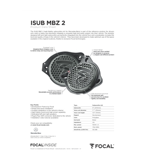 ISUB MBZ 2 Focal Kit SUB Mercedes #6 - 1818ISUBMBZ2