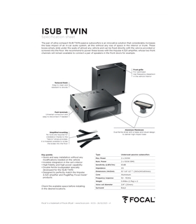 Focal ISUB TWIN #2 - 1818ISUBTWIN