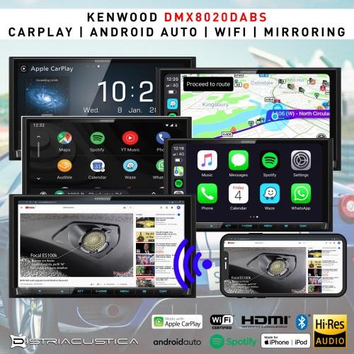 Carplay Android Auto Wifi mirroring Kenwood DMX8020dabs