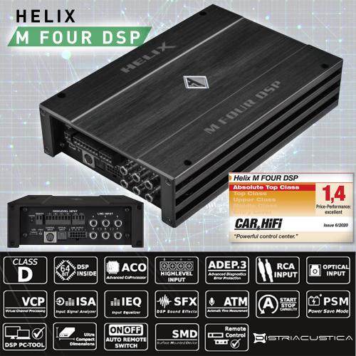 Amplificador DSP Helix M Four DSP