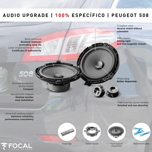 Peugeot 508 Focal altifalantes