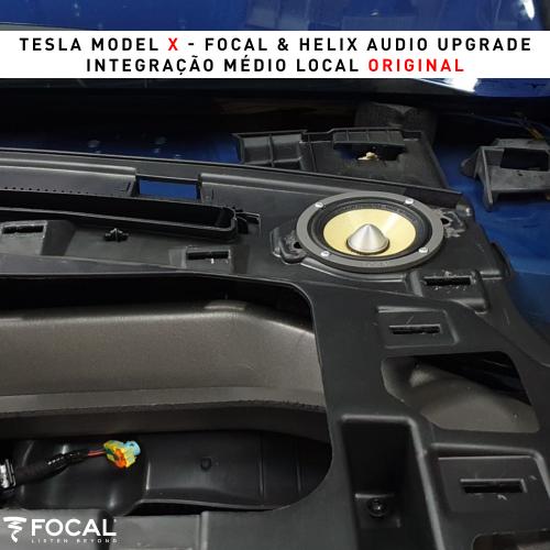 Tesla Model X sistema de som
