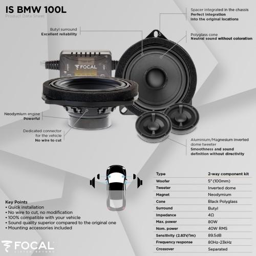 Colunas BMW Série 3 E92 Focal