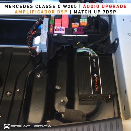 Amplificador DSP colunas subwoofer Mercedes Classe C W205  HiFi