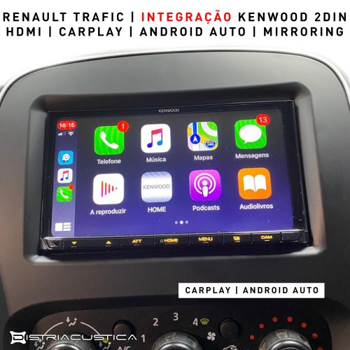 Auto rádio Android Auto Carplay Renault Trafic