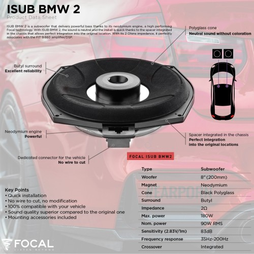 BMW X6 M50D Hifi Focal & Match