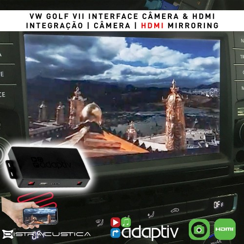 VW Golf VII câmera hdmi mirroring interface