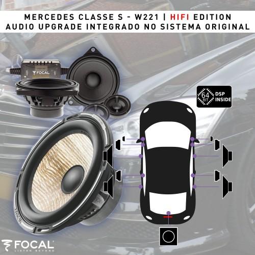 Mercedes Classe S W221 Harman Kardon áudio upgrade