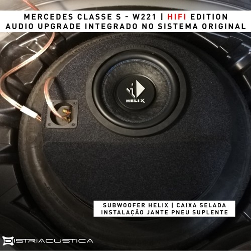 Mercedes Classe S W221 Harman Kardon áudio upgrade
