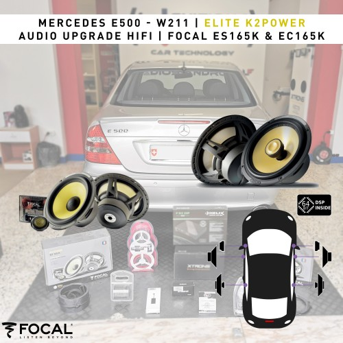 Mercedes E500 W211 HiFi Focal Helix