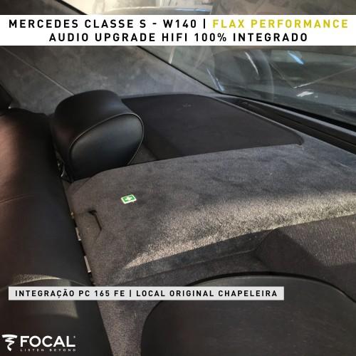 Mercedes Classe S W140 amplificador e colunas