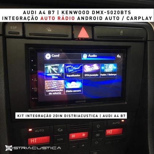 Audi A4 Android Auto Carplay colunas Focal