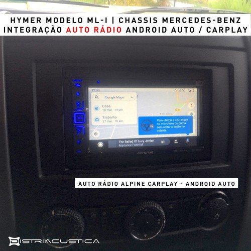 Autocaravana Hymer auto rádio carplay android auto