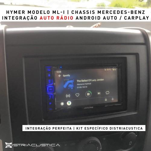 Autocaravana Hymer auto rádio carplay android auto