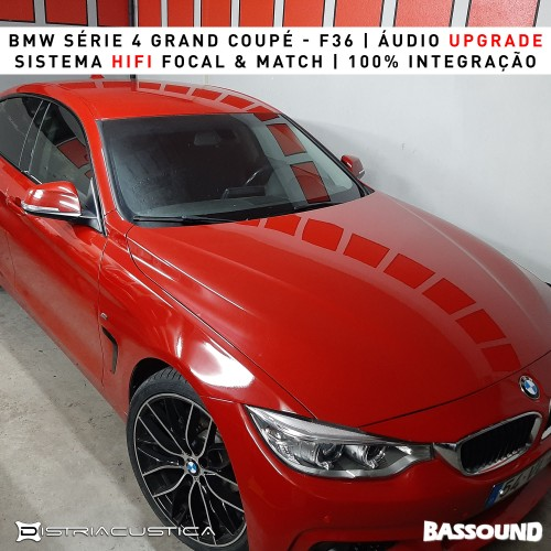 Áudio upgrade BMW 4 Grand Coupé F36 Bassound