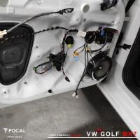 Colunas e subwoofer Focal Vw Golf MK7