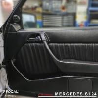 Mercedes S124 Colunas Focal Insonorização CTK