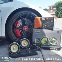 Lamborghini Huracán audio upgrade focal match dsp
