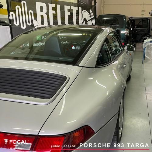 Porsche 993 Targa audio upgrade Focal Match