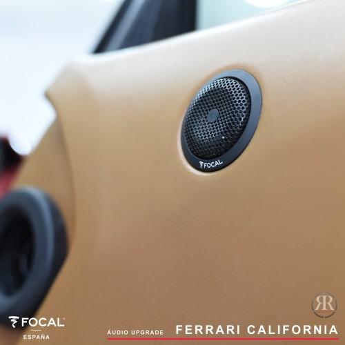 Ferrari California Focal áudio upgrade
