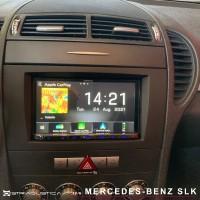 Mercedes SLK Carplay Android auto Kenwood