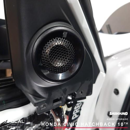 Honda Civic hatchback upgrade áudio por Bassound