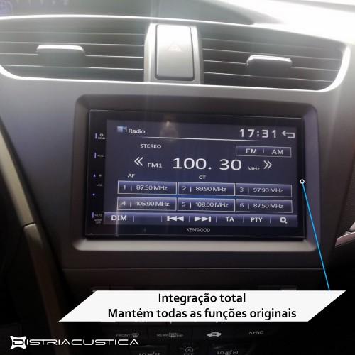 Integração 2din Honda Civic Hatchback 2012 - 2015