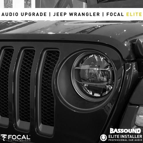 Jeep Wrangler sistema de som