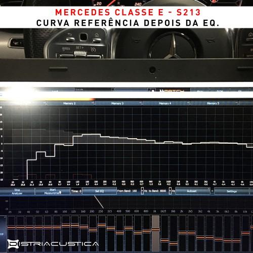 Mercedes Classe E colunas subwoofer dsp