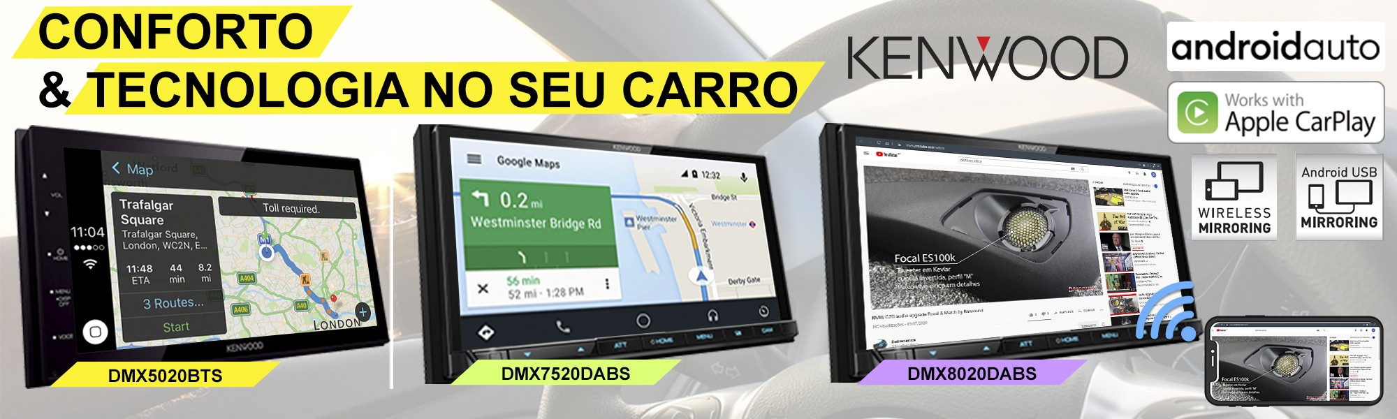 Carplay Android Auto Kenwood